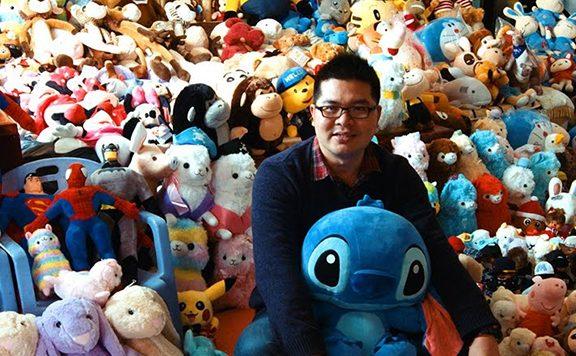 De knuffels van Chen Zhitong