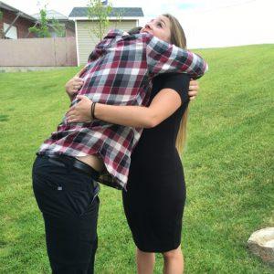 Vriendelijke knuffel